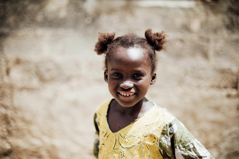 portrait petite fille Sénégal