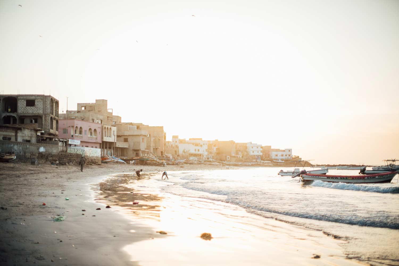 magnifique coucher de soleil Dakar Sénégal