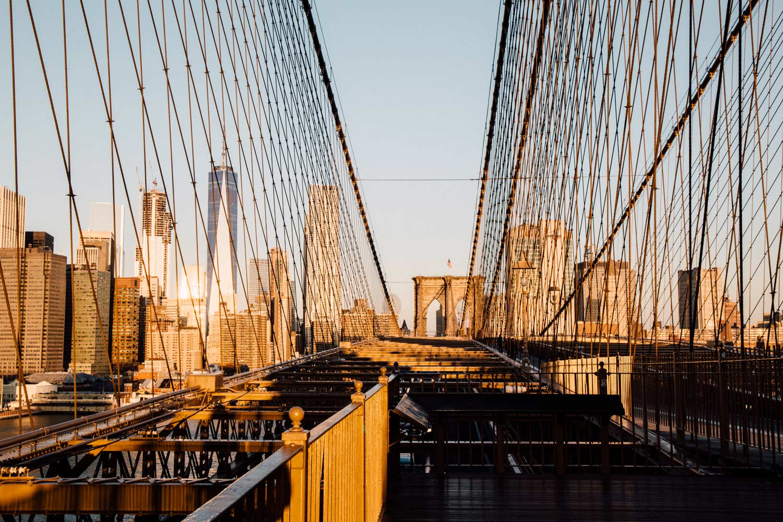 lever de soleil pont brooklyn