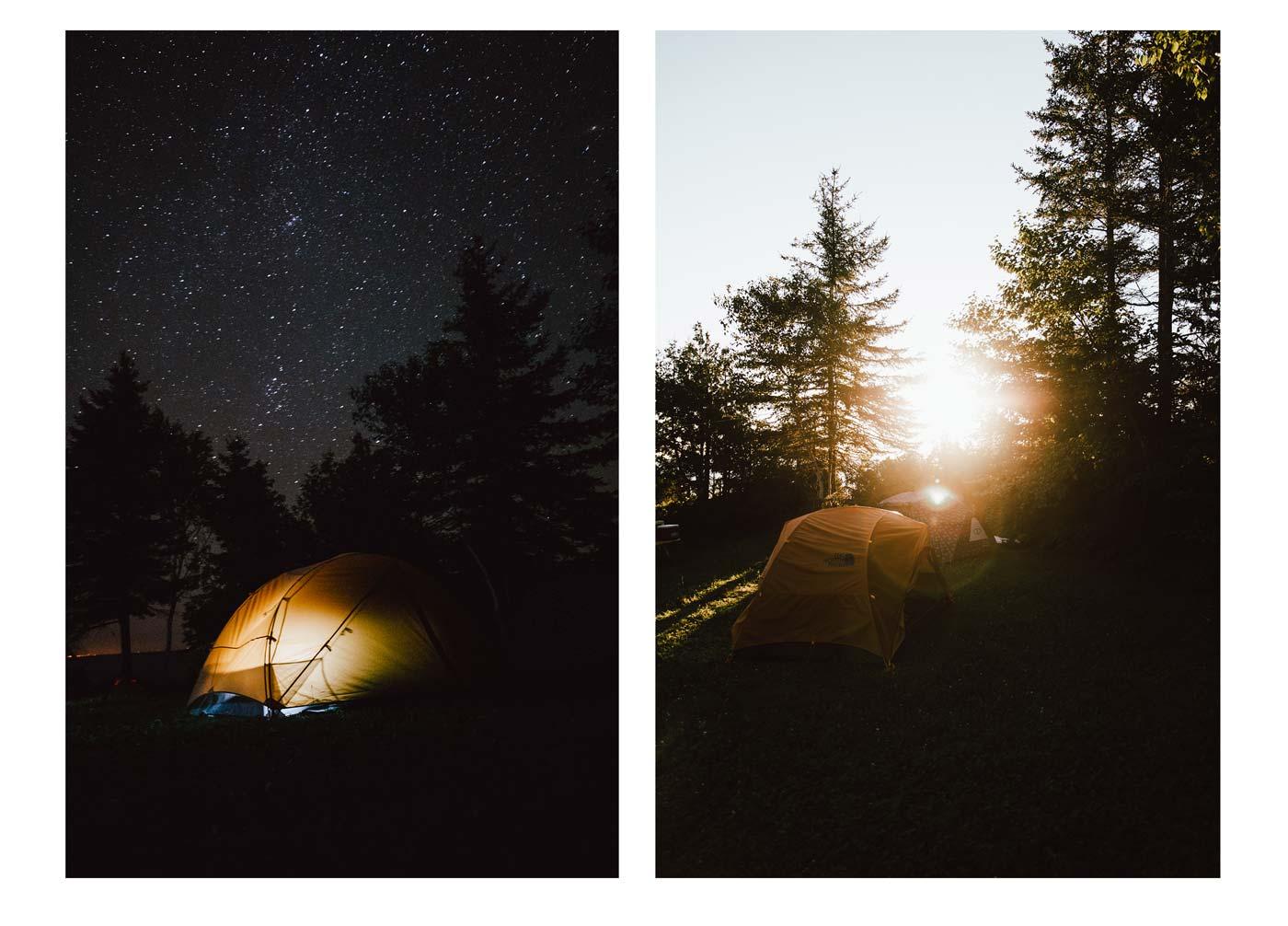 le camping au rocher boise nouveau brunswick
