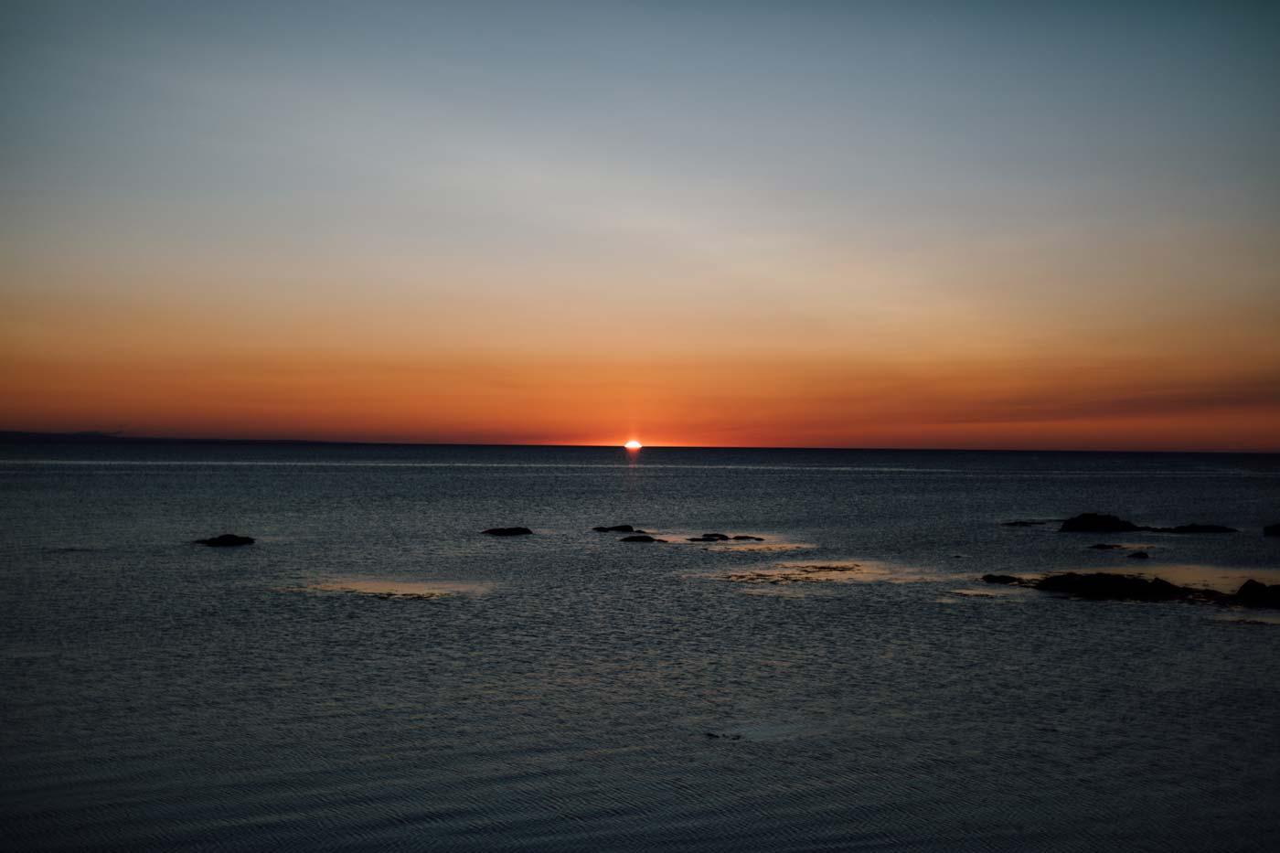 lever de soleil au Nouveau Brunswick