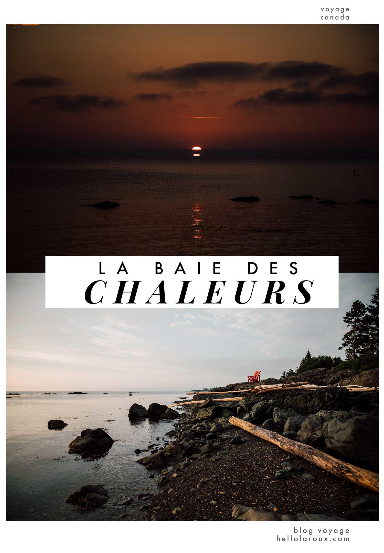visiter la baie des chaleurs blog voyage
