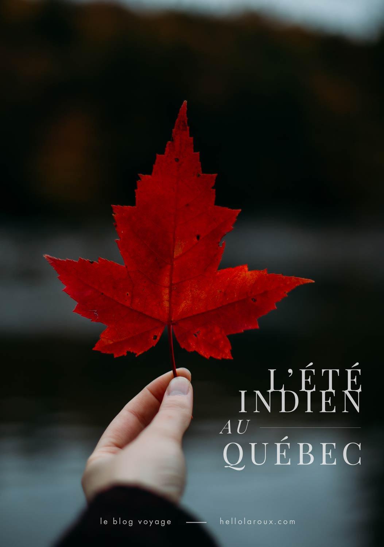 automne au Québec : blog de voyage et photo