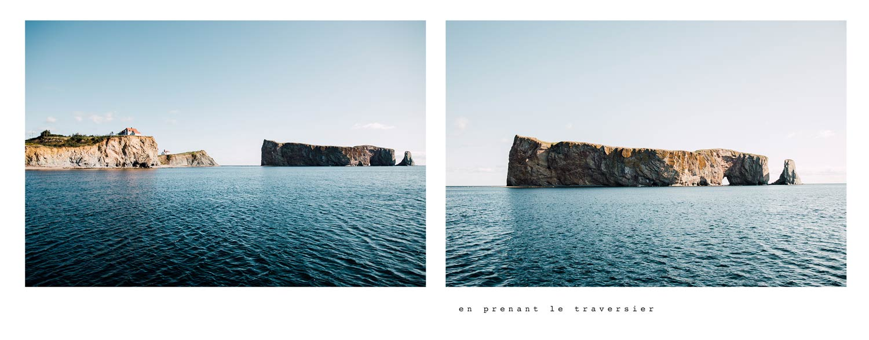baie gaspésienne et le rocher percé