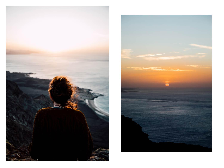 coucher de soleil iles des Canaries