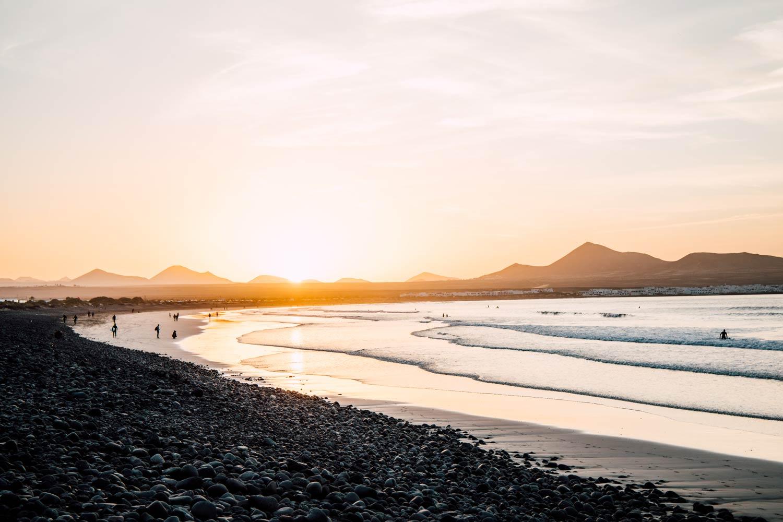 famara beach la plus belle plage de Lanzarote