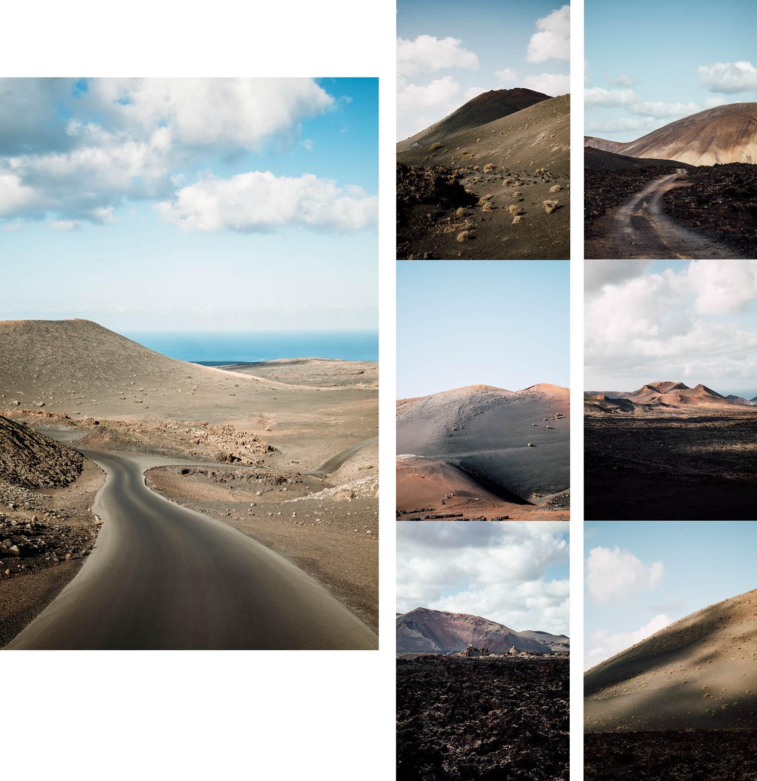 les paysages volcaniques de l'ile de lanzarote
