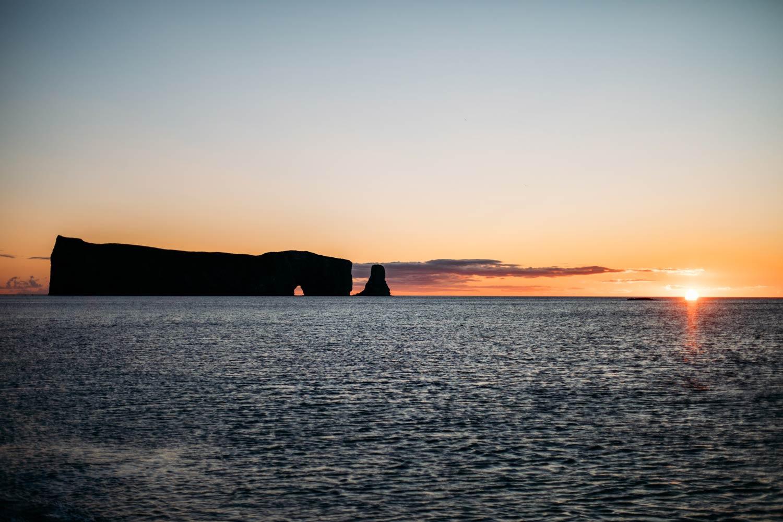 photographier le rocher percé au matin