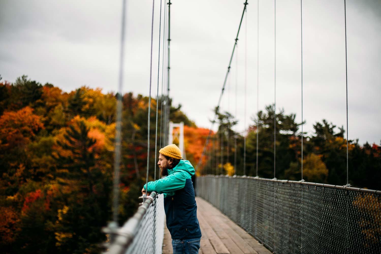 pont de bois suspendu Lévis Québec