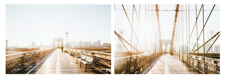 pont de Brooklyn lever de soleil