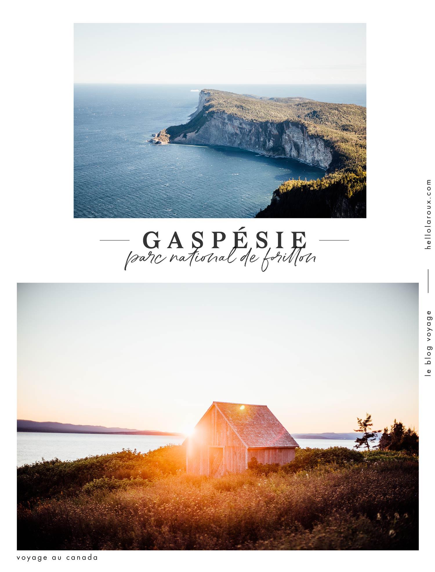 voir le parc national de forillon en Gaspésie