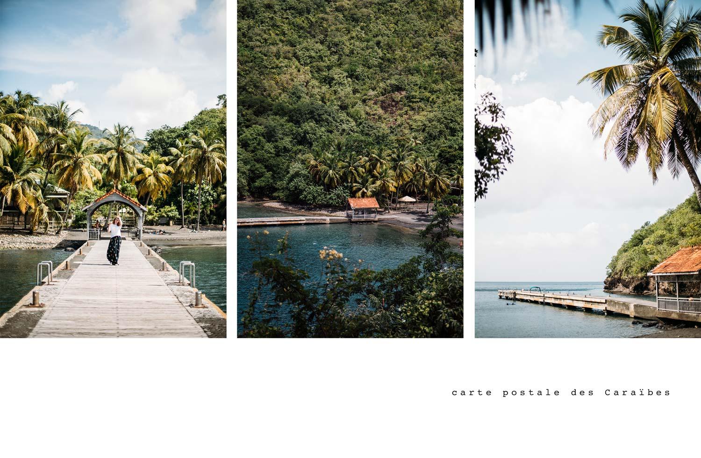 carte postale des Caraïbes Martinique