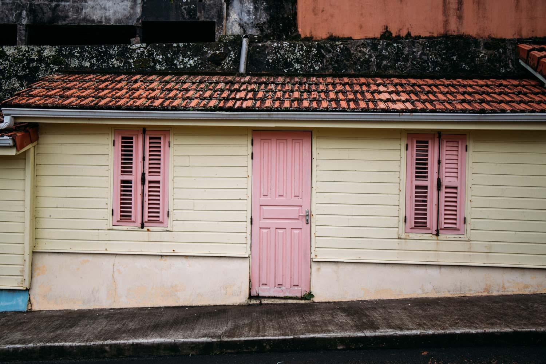 maison colorée nord Martinique