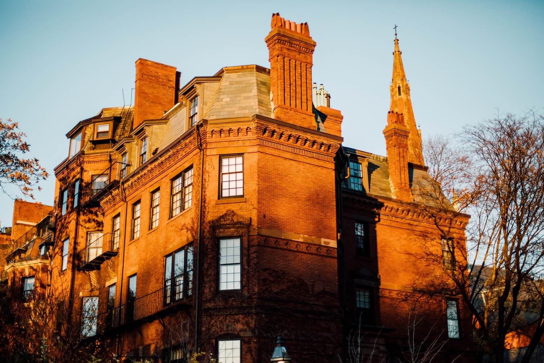 sunset boston beacon hill