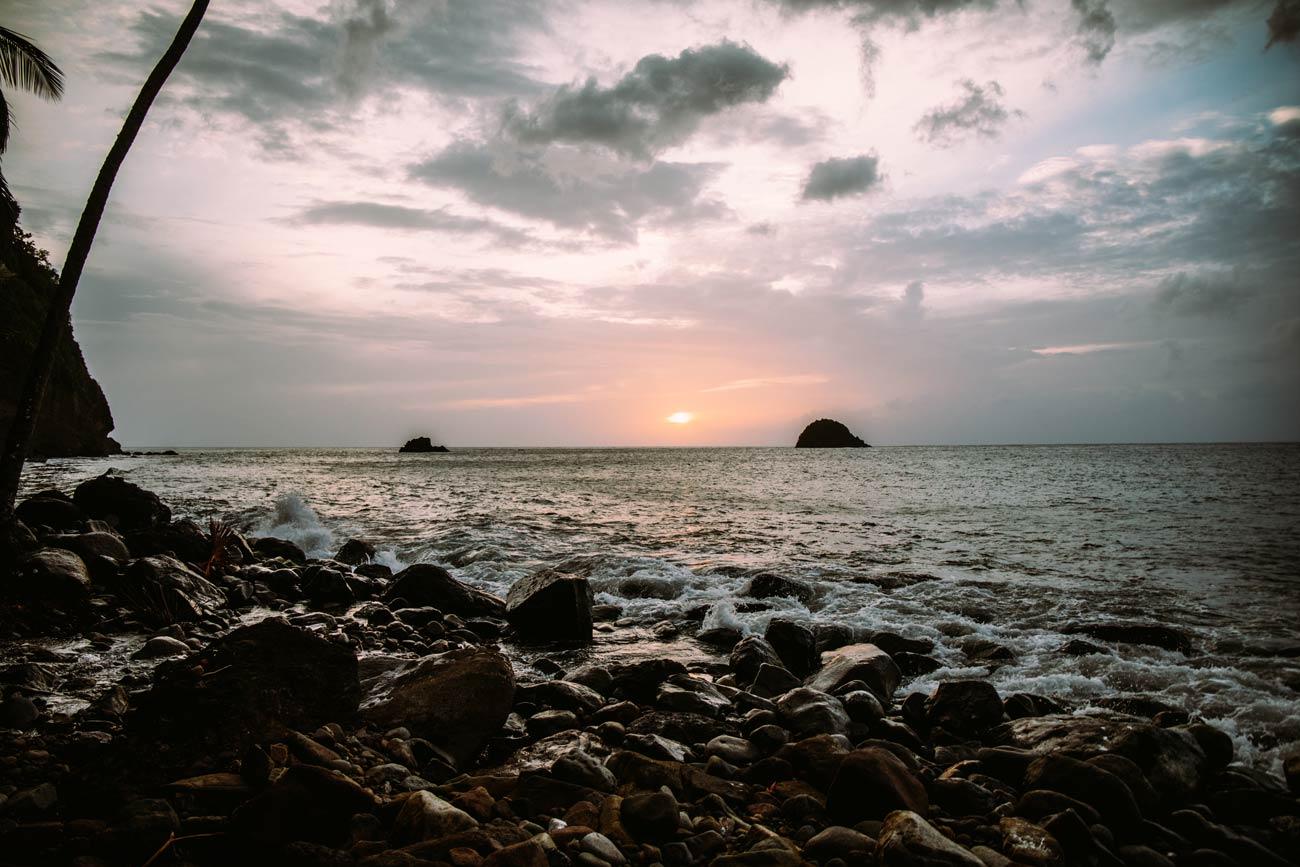 coucher de soleil en Martinique