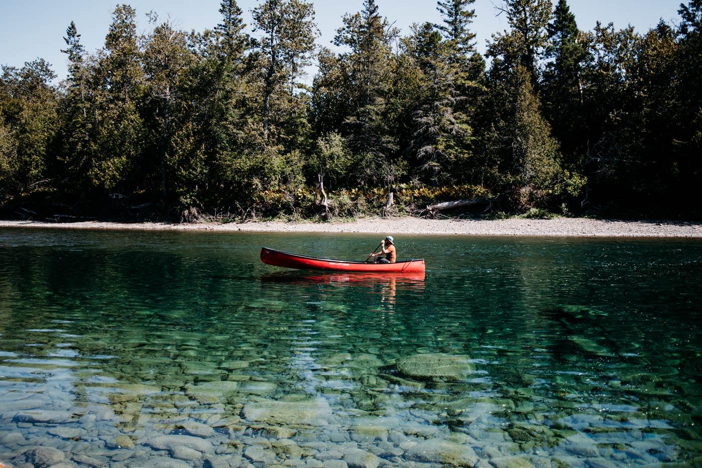 faire du canot sur la rivière Bonaventure
