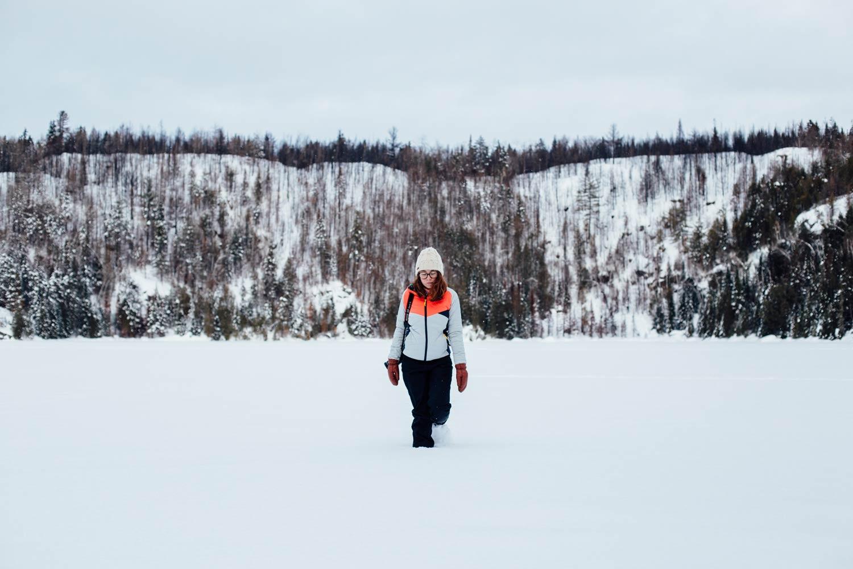 hiver québécois au parc Mauricie