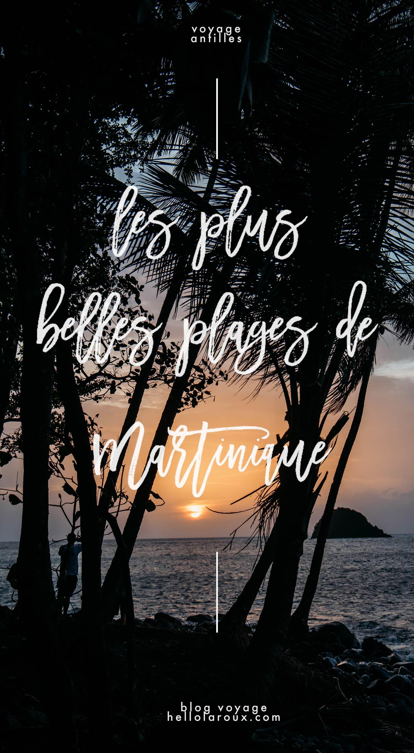 les plus belles plages Martinique blog