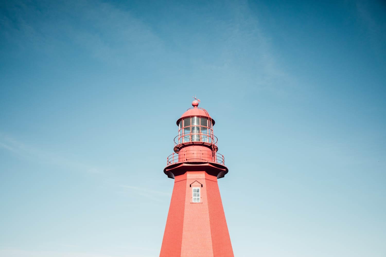 phare de la Martre en Gaspésie au Québec