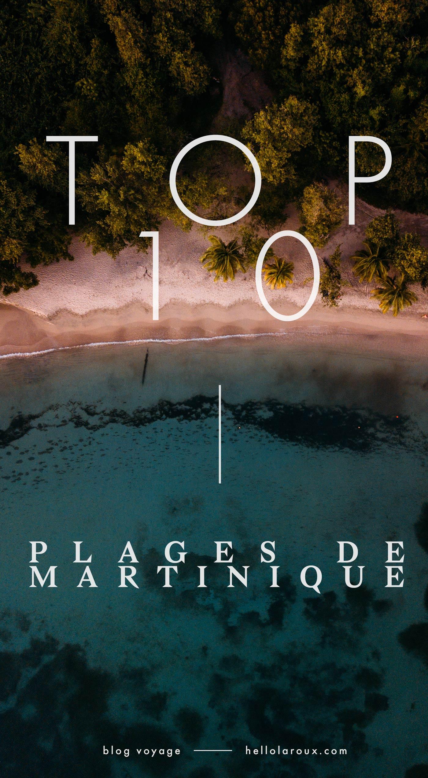 TOP 10 des plages de martinique blog voyage Hellolaroux