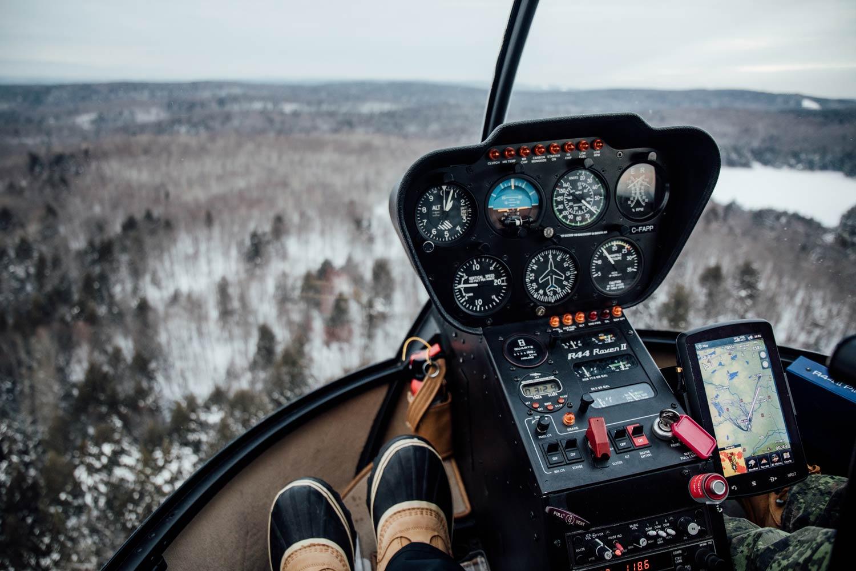 survol en hélicoptère Maurice Québec