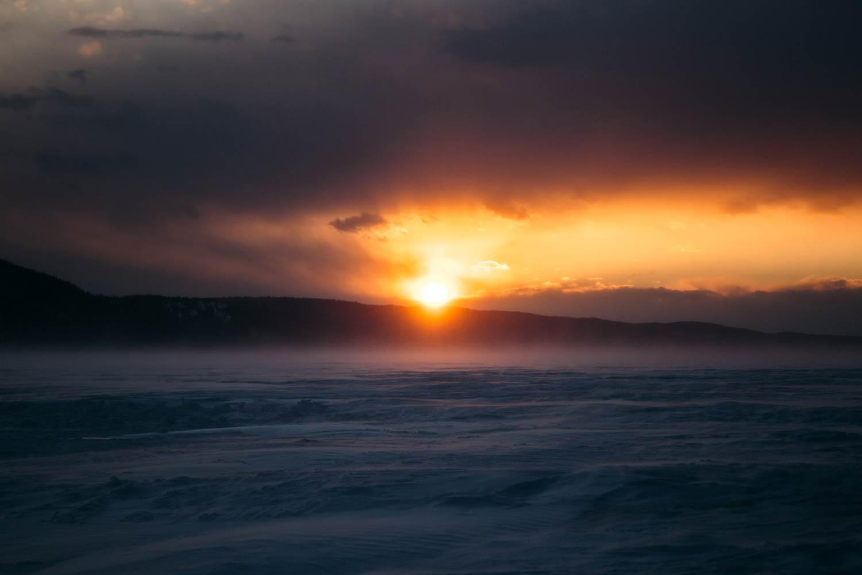 coucher de soleil fjord du Saguenay