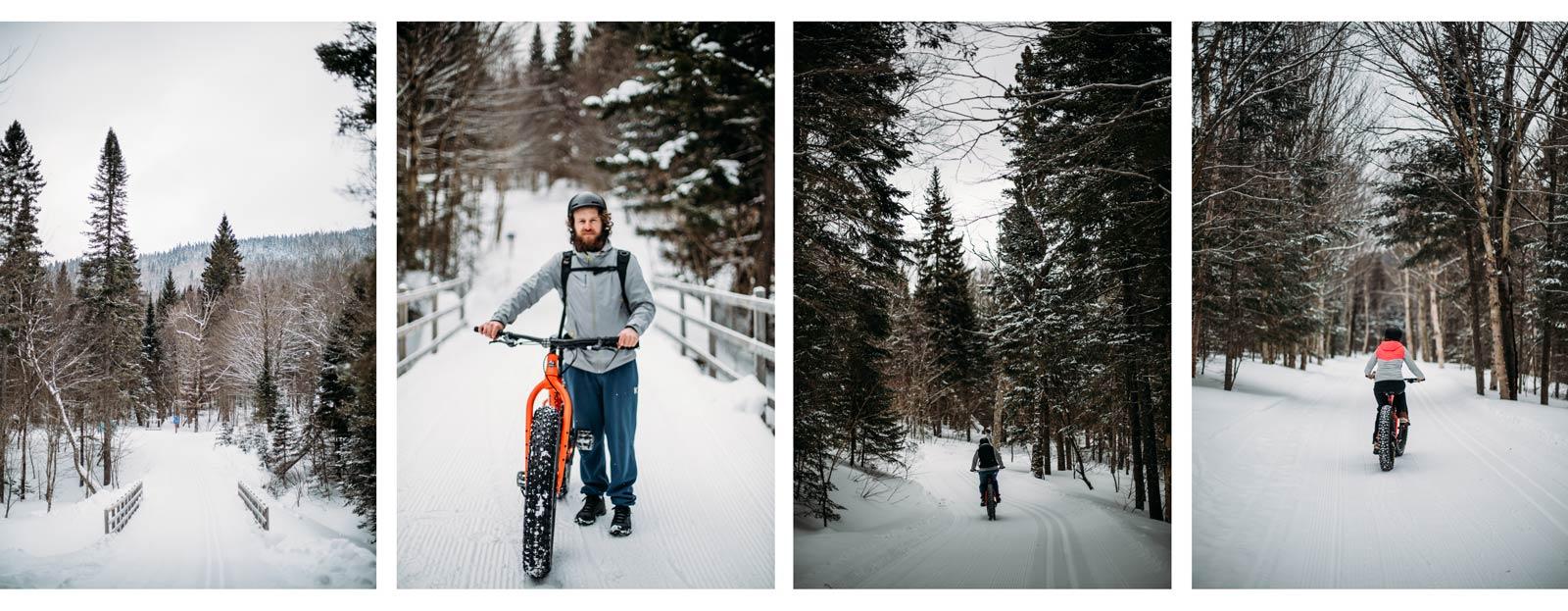fatbike au parc régional du Massif du sud au Québec