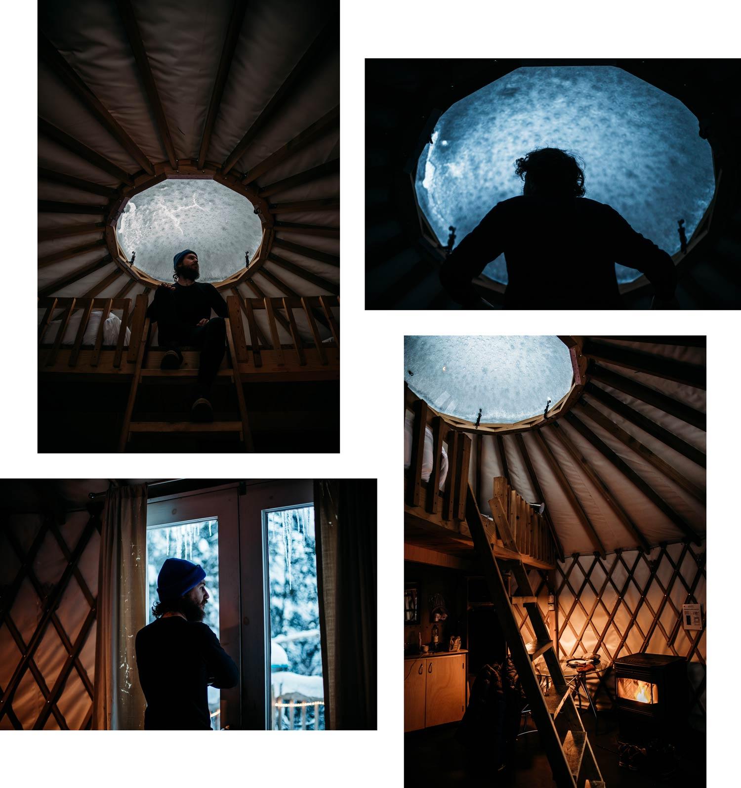 hébergement insolite dormir dans une yourte au Québec