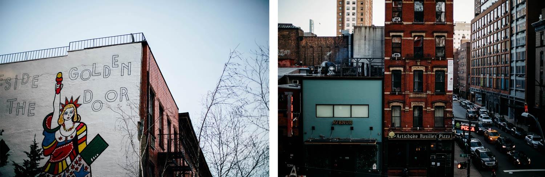 high line New York en hiver