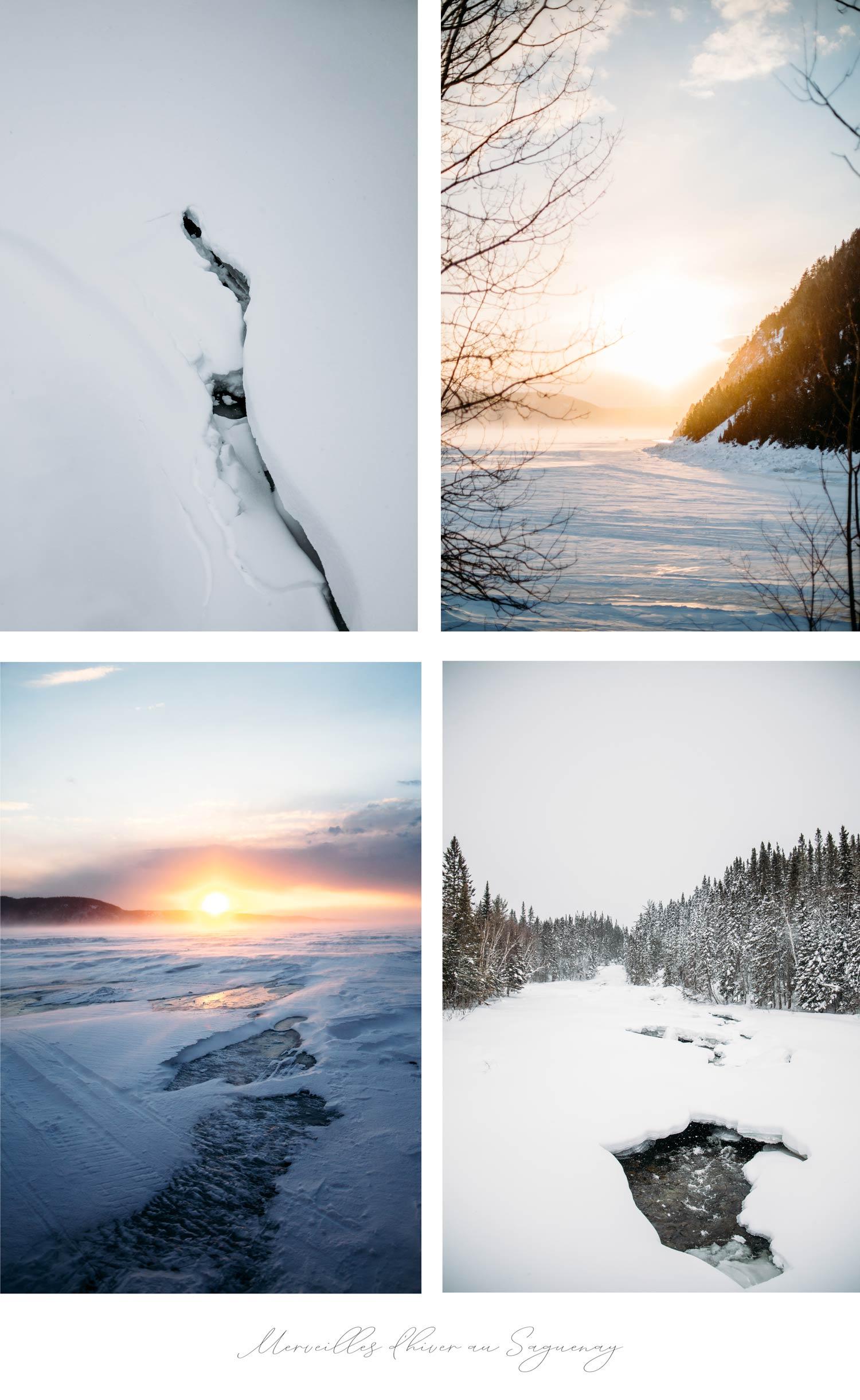 merveilles d'hiver au Saguenay Lac-Saint-Jean au Québec
