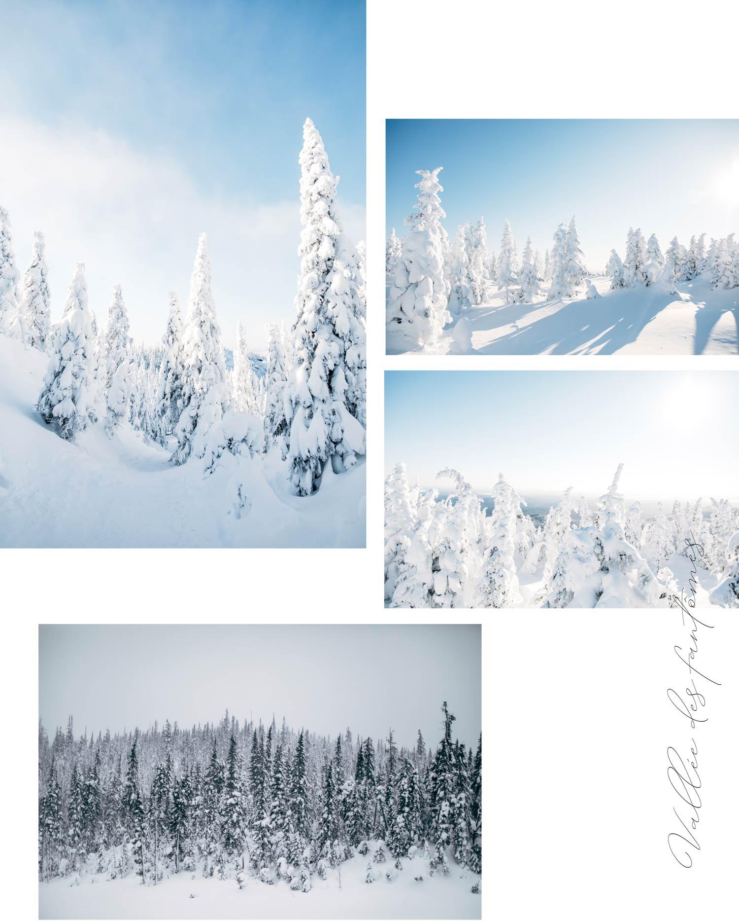 parc national Monts-valin : randonner au Québec en hiver