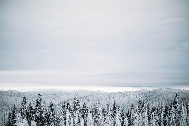 paysages du Saguenay en hiver : voyage Québec