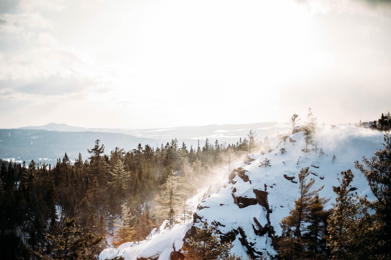 randonnées hivernales au Québec