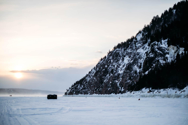 voir le fjord du Saguenay en hiver