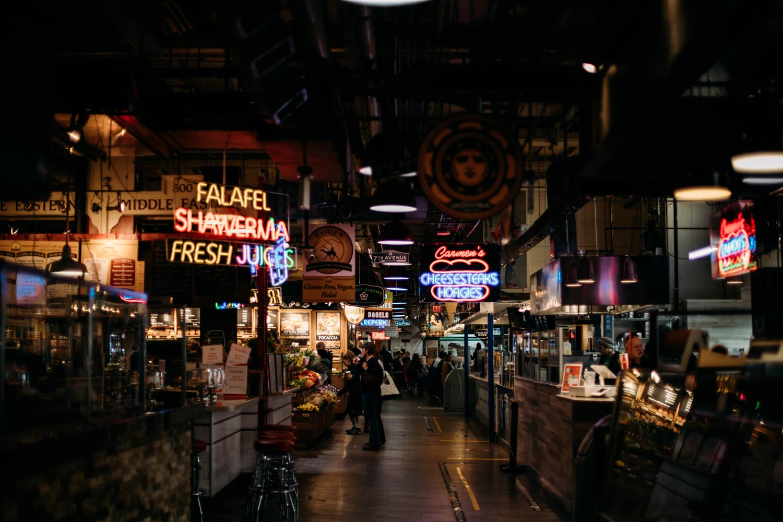 voir le reading terminal market de Philadelphie