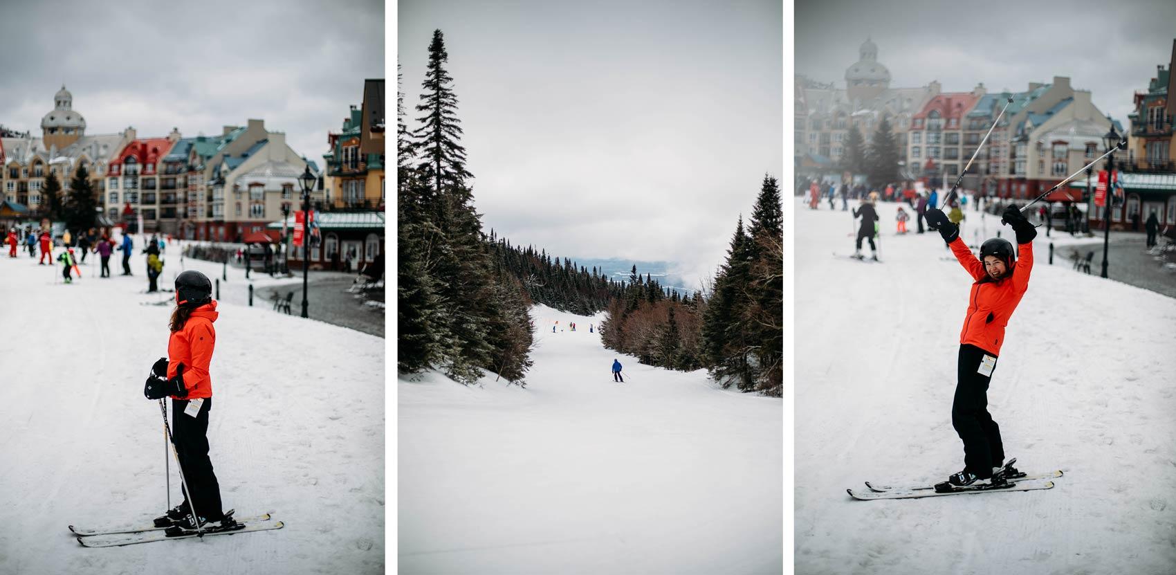 skier Tremblant Québec blog