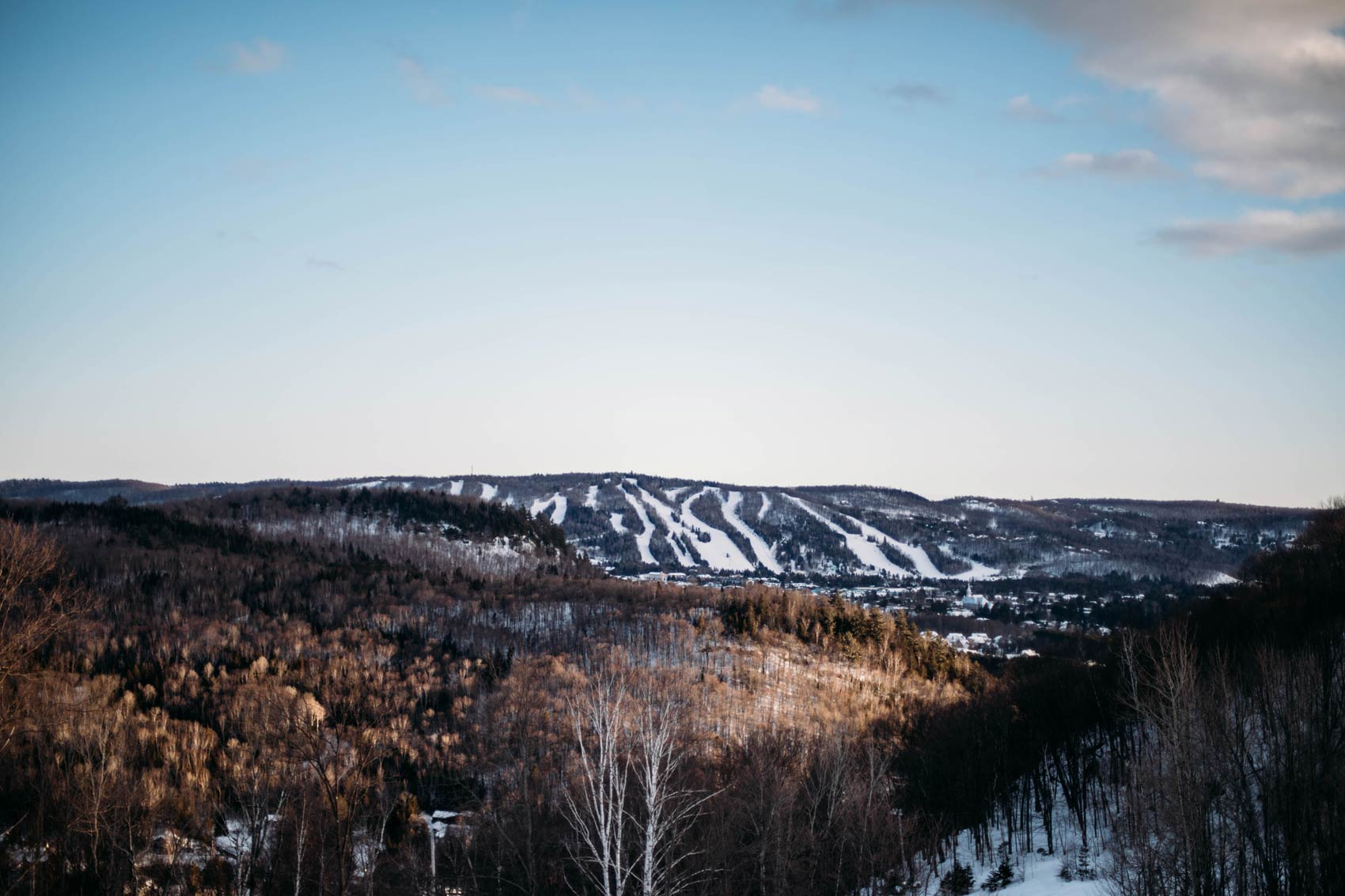 vue depuis l'hôtel Mont Gabriel