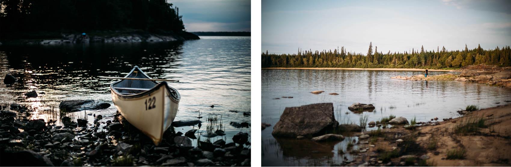 chalet en bois nord Québec