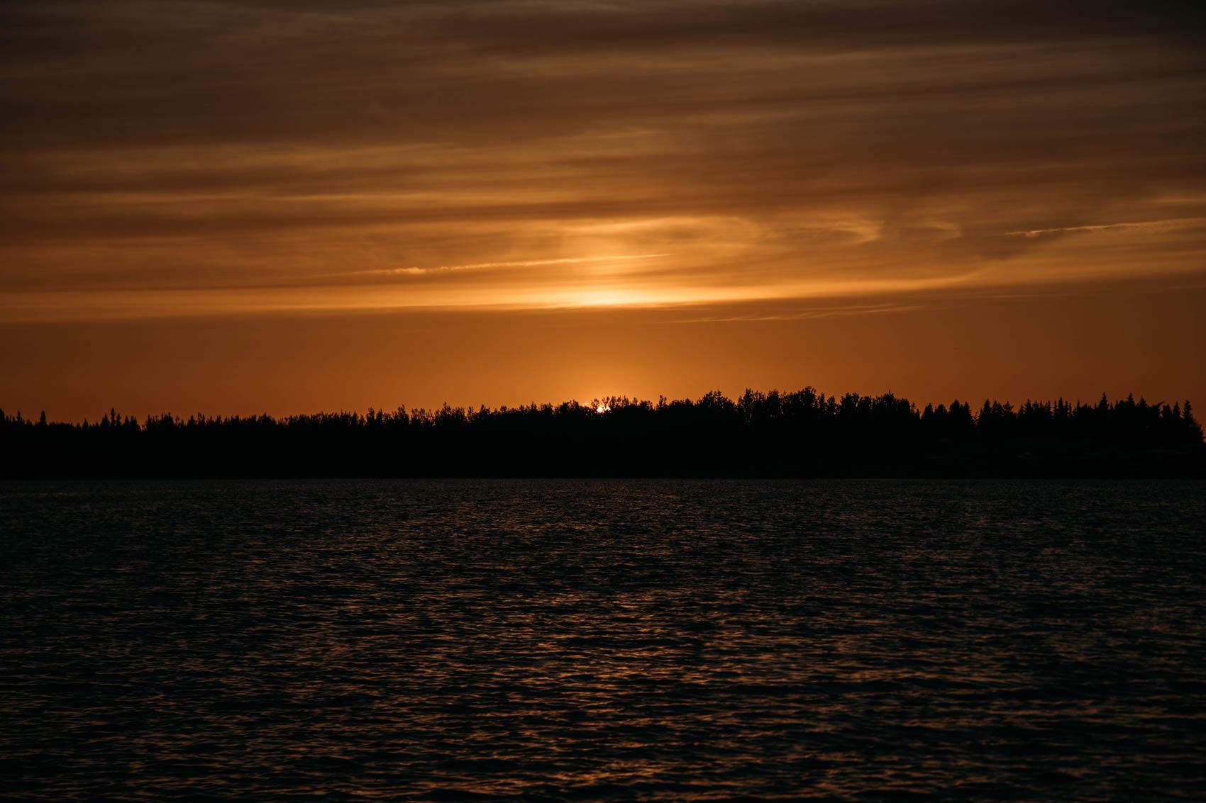 coucher de soleil Wemindji Baie-James