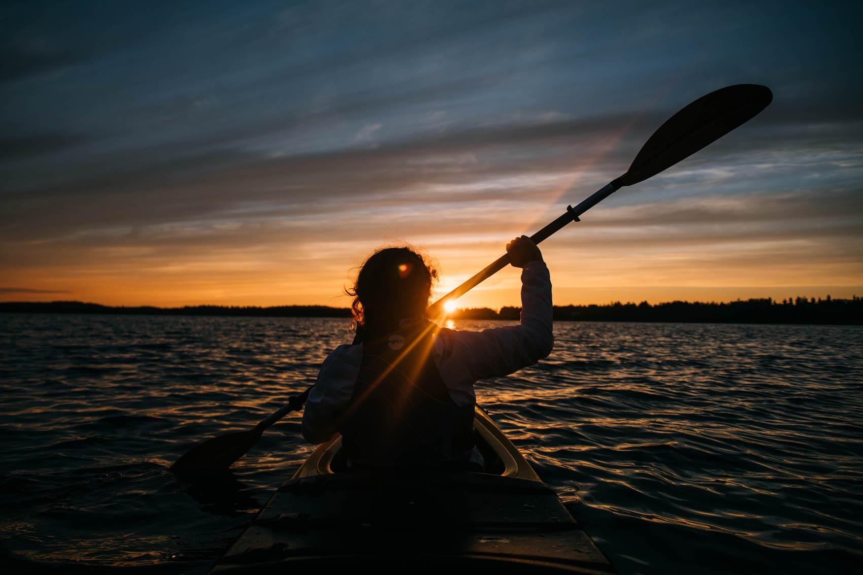 faire du kayak dans le nord du Québec