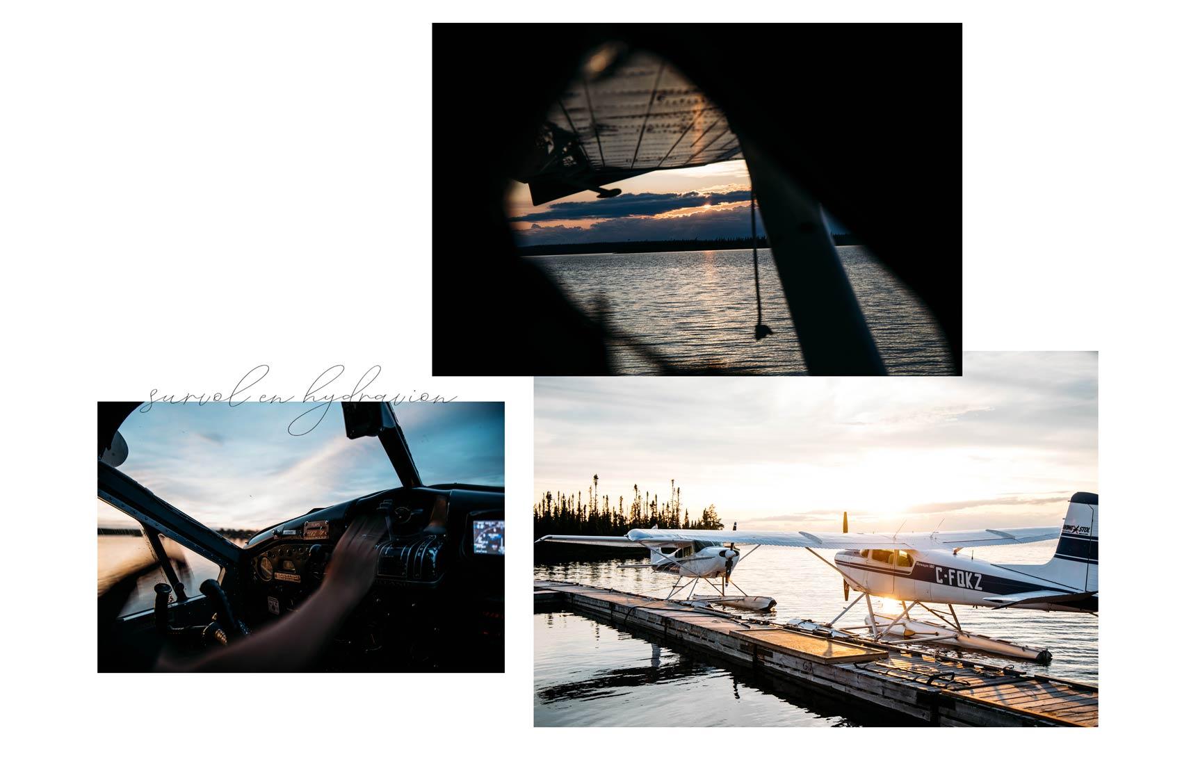 faire un survol en hydravion nord Québec