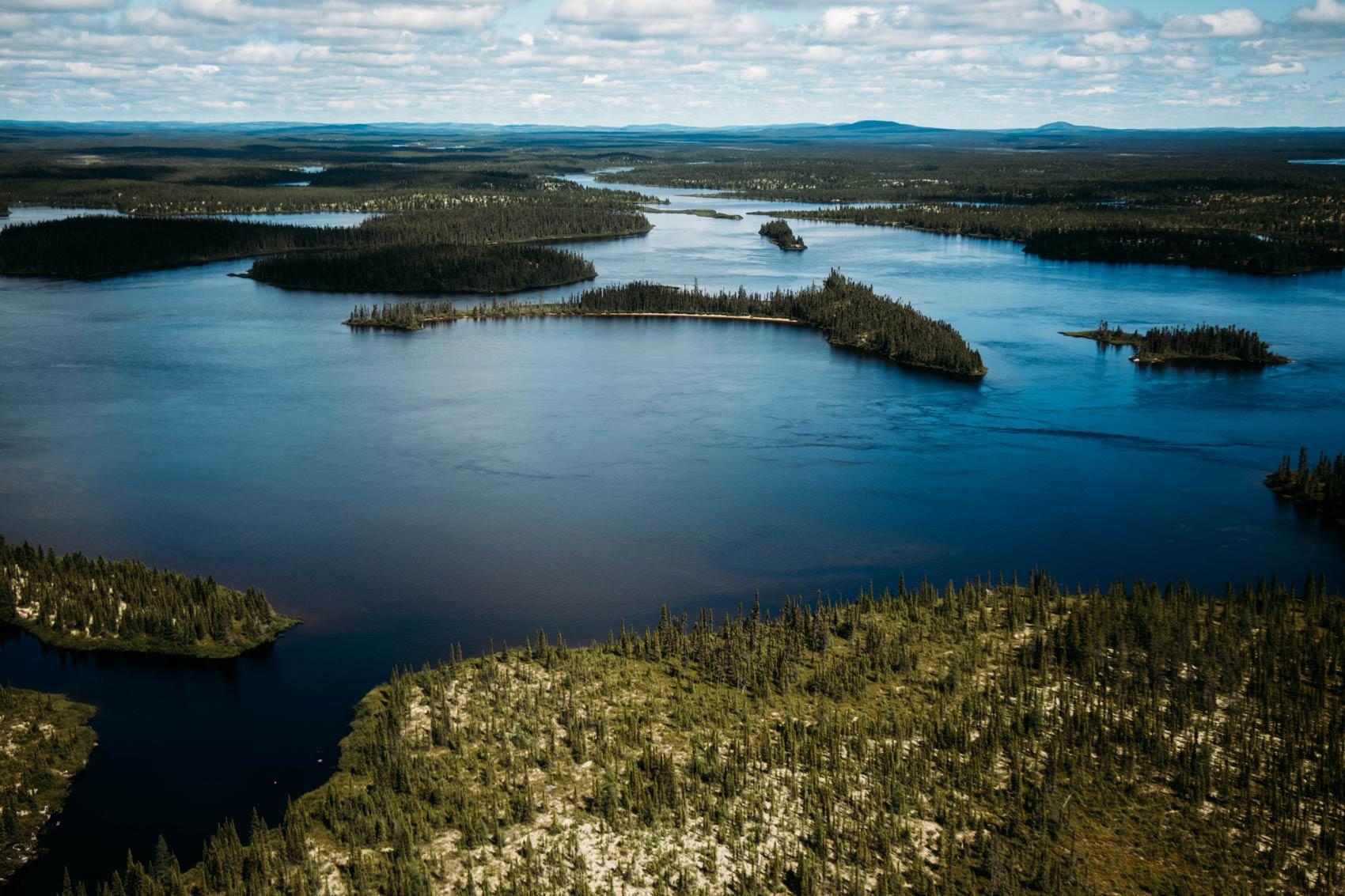 lacs du nord Québec vue depuis les airs