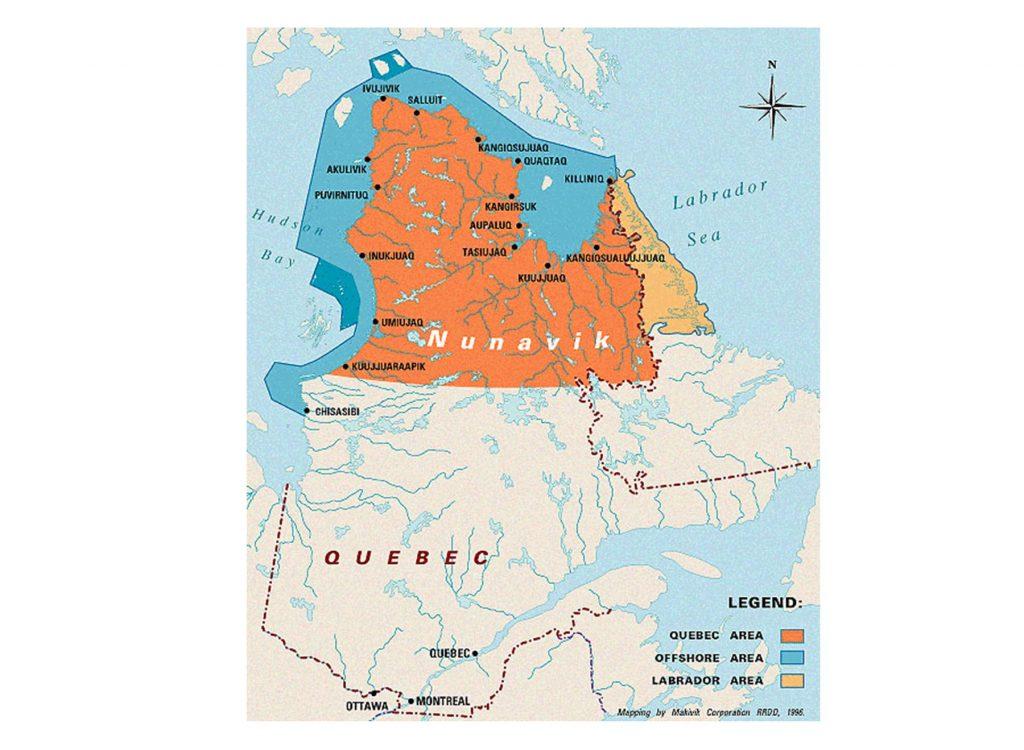 carte voyager au Nunavik