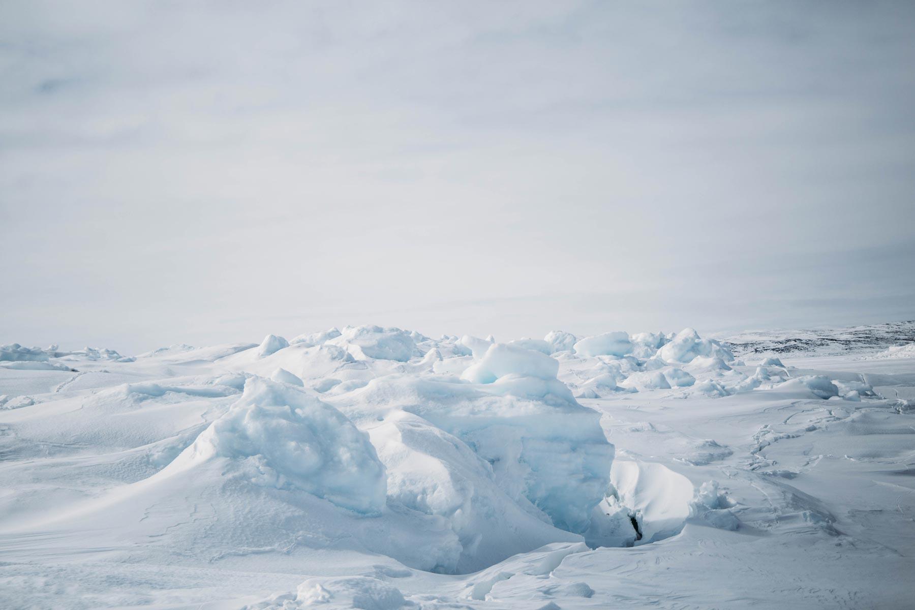 champ de glace pôle-nord