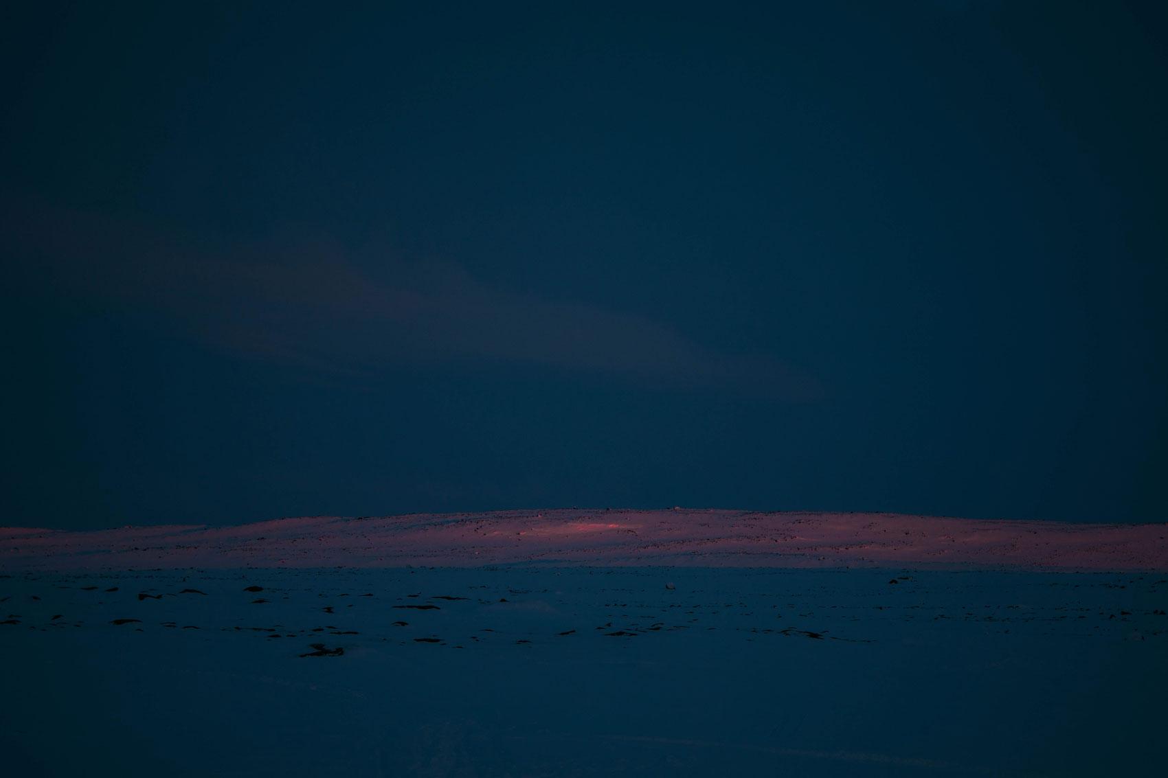 coucher de soleil Nunavik