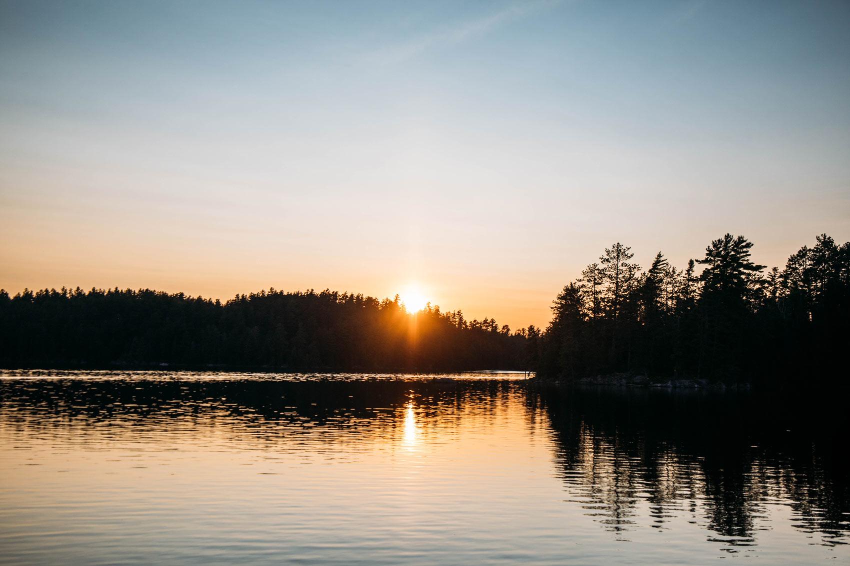 coucher de soleil parc national d'Opémican