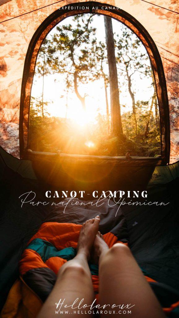 expédition canot-camping Opémican