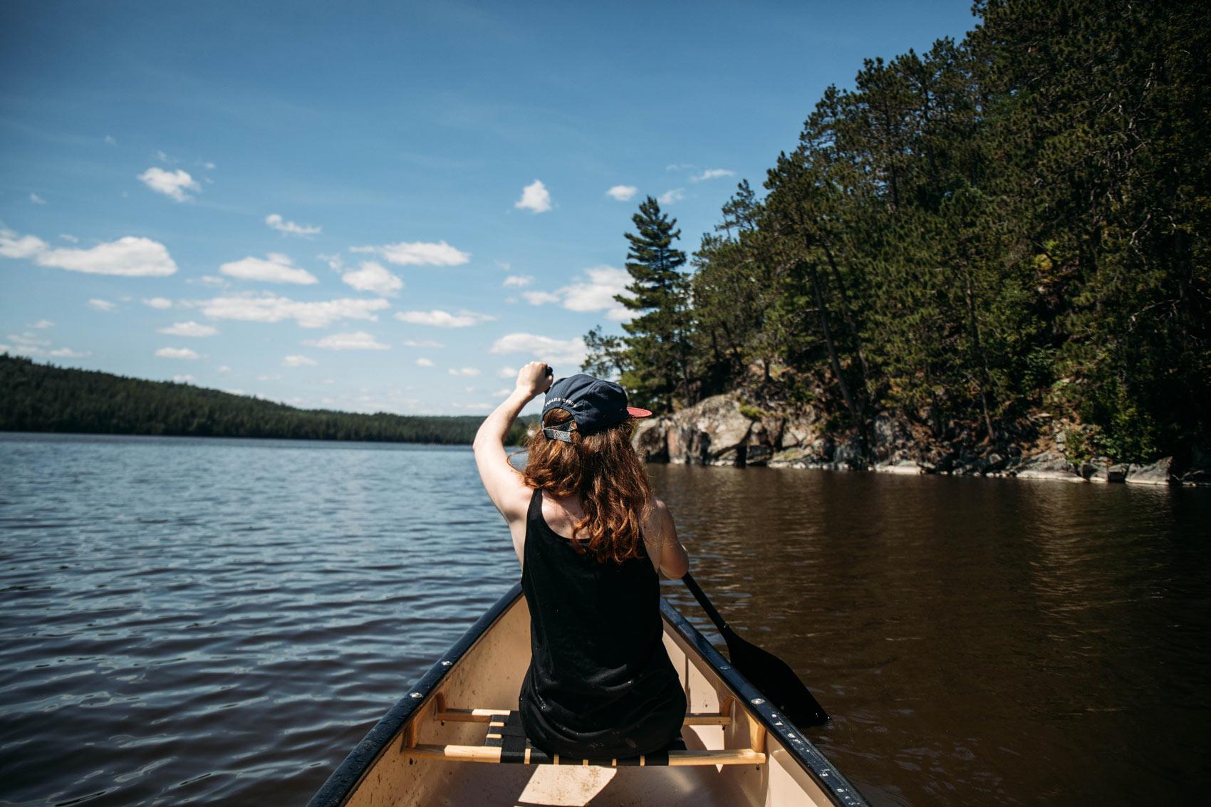 faire du canot au parc national d'Opémican-quebec