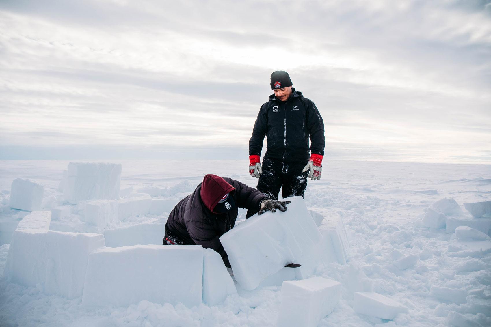 j'ai construit un igloo au Nunavik