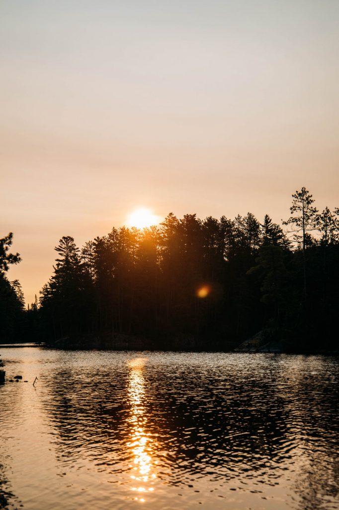 lever de soleil lac kipawa